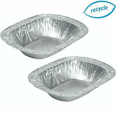Individual Foil Pie Dishes, Rectangle, Cases, Disposable Tins, Oblong Containers