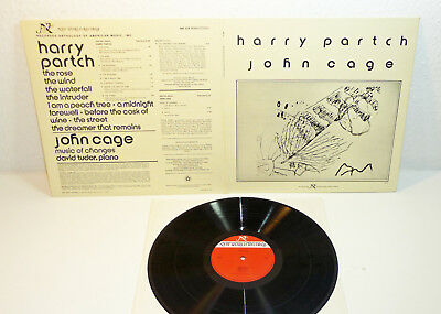 The Music Of HARRY PARTCH and JOHN CAGE - US 1978 M- AVANT New World LP Vinyl