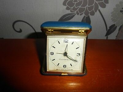 Vintage Travel Clock Columbia  Made By General Time In Hong Kong