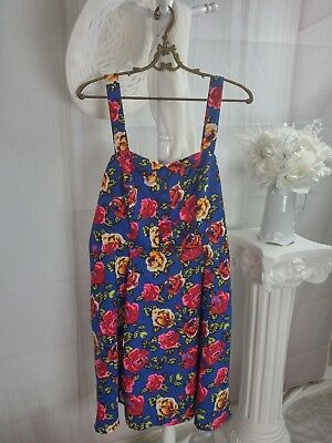 e2f7e8105257 Forever 21+ Plus Sizes Dress Womens Size 2X Sleeveless Floral Blue Pink  Yellow