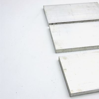 ".625"" x 6"" Aluminum Solid 6061 FLAT BAR 13.625""Long mill stock Pieces 3 sku K416"