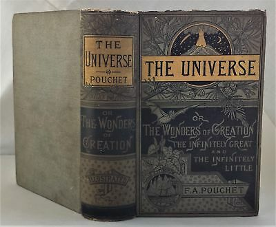1901 antique The UNIVERSE CREATION pouchet animal vegetable geology sideral