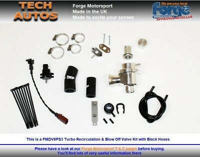 VW Golf Mk5 ED30 Mk6 R Audi S3  Forge Motorsport FMDV8PS3 Recirc & BOV Valve Kit