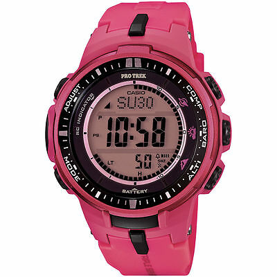 Casio  Protrek MB-6 Triple Sensor Small Size Pink LTD Watch PRW3000-4B