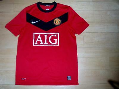 Manchester United 2009-10 Mens Small home football shirt jersey top #18 Harper