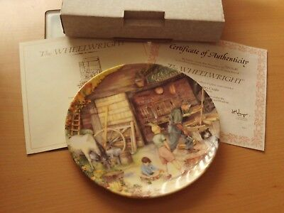 "Royal Doulton Old Country Crafts Series ""the Wheelwright"" Collector Plate Boxed."