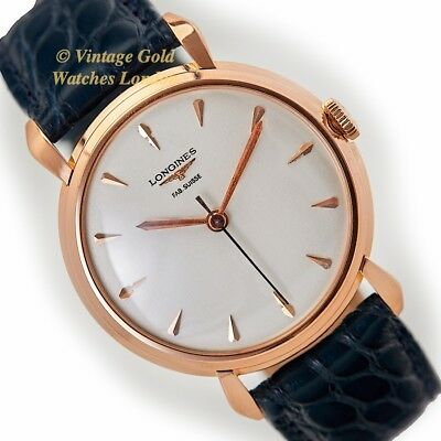 Longines Calatrava, Cal.27Ms, 18Ct Pink Gold, 1958 - Immaculate!