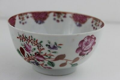 Antique 18th Century Chinese Hand Painted Porcelain Finger Bowl 11x6cm