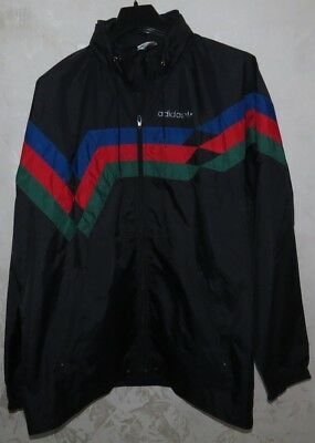 Giacca Jacket Kway K-Way Jersey Adidas Fitness D7 Wind Rain Sport Casual Vintage