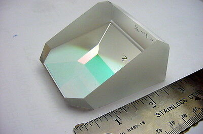 New, Unused Large Beveled, Coated Laboratory / Industrial Prism