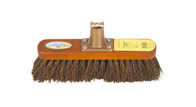 """Groundsman Wood backed Broom Head Only With Stiff Bassine Bristles 12"""" PA92212"""