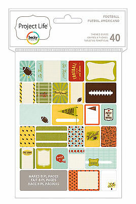 Project Life FOOTBALL 40-PACK Themed Cards scrapbooking 380244