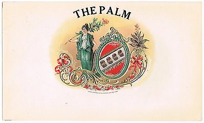 Cigar Box Label Vintage Inner The Palm Embossed Original 1904 Schmidt