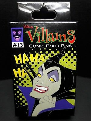Disney Parks Villains Comic Book 2-Pin Mystery Box OPENED BUT NEW!!!