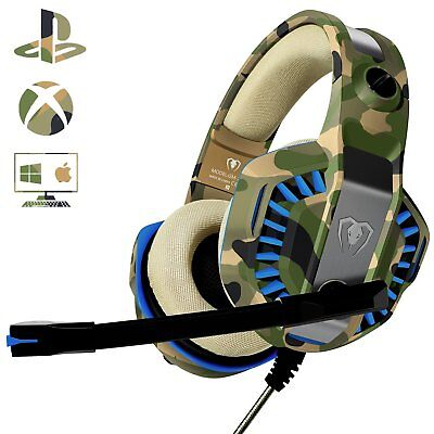 Cuffie PS4 Gaming con Microfono PC XBOX ONE Contr Volume Cuffia Splitter Audio