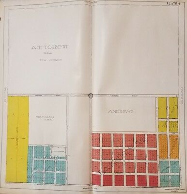 1917 NW Rockford IL Atlas School St & Central Ave Plate Tissandier Survey Map