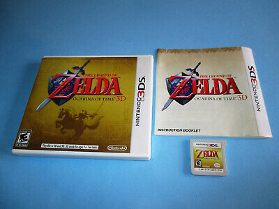 The Legend of Zelda Ocarina of Time 3D Nintendo 3DS XL 2DS Game w/Case & Manual