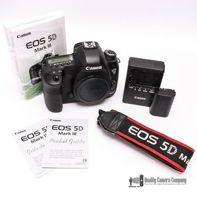 Canon EOS 5D Mark III 22.3MP Camera w/ Battery, Charger, Strap & Manuals