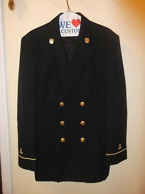 US MARITIME SERVICES USMS NAVAL OFFICER DRESS JACKET / COAT w/ Lapel Pins