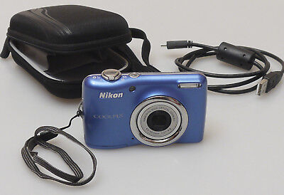 Prl) Nikon Coolpix L23 Fotocamera Digitale Compatta 10.1 Mp + Custodia Bag + Usb