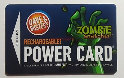 Brand New! Dave and Busters Powercard, Zombie Snatcher Hand