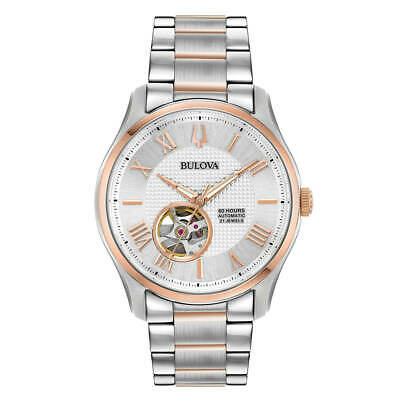Bulova 98A213 Men's Classic Automatic Silver Dial Two Tone Watch