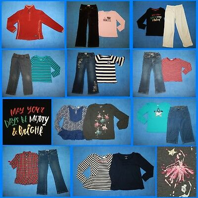 19 Piece Lot of Nice Clean Girls Size 6 Fall School Winter Clothes fw317