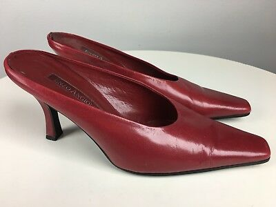 055f4772491 ENZO ANGIOLINI SHOES Red Square Toe Slip On High Heel Womens Size 6 M