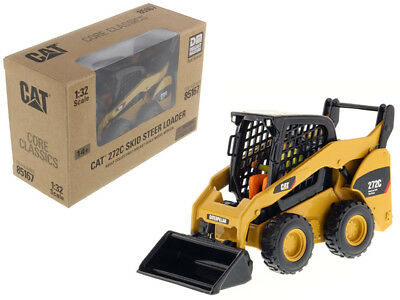 CAT Caterpillar 272C Skid Steer Loader With Working Tools and Operator Core Cla