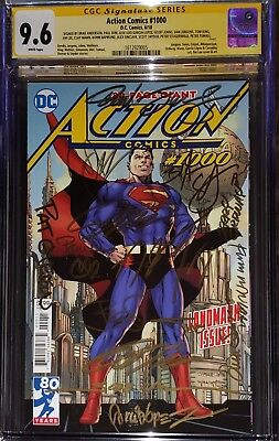 Action Comics 1000 CGC SS 9.6 signed 18 times Lee, Dini, Ordway, Jurgens, King