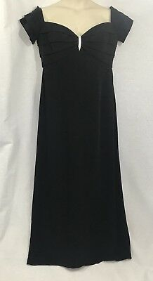 STUNNING Vintage Lillie Rubin  Bob Mackie  Long Black Evening  Dress 16