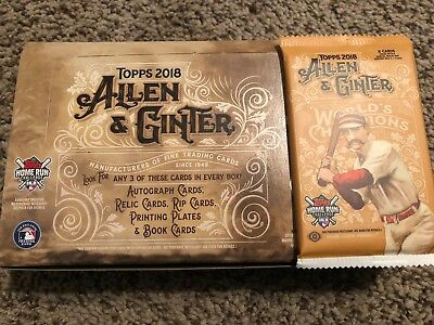 **THICK 2018 Topps Allen & Ginter HOBBY Hot Pack Relic Auto Rip Book DNA ?!?!?**