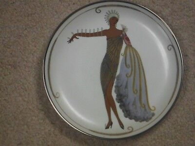 House of Erte DIVA II Plate Franklin Mint Ltd# HD6599 Porcelain MINT