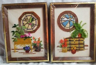 "2 Complete Sunset Designs Completed Kits 5"" x 7"" Window Series B27"