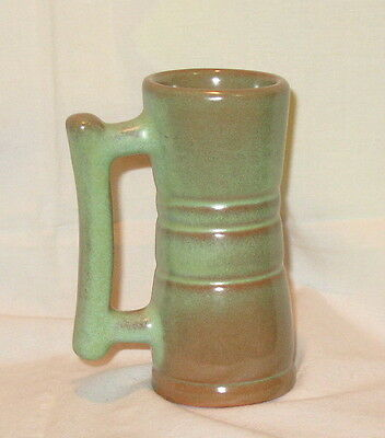 "Frankoma Marked 26 DC Handled Juice Mug Prairie Green 4.5"" Tall No Damage"