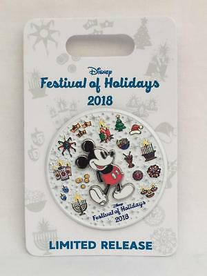 Disney Parks Disney California Adventure DCA Festival of Holidays 2018 Logo Pin