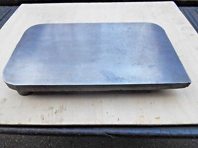 "MACHINISTS CAST STEEL* SURFACE PLATE , INSPECTION PLATE , 14"" x 8-1/2"" x 2"""