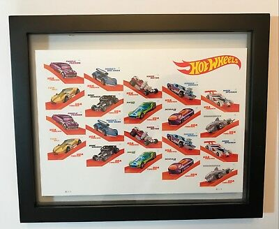 Usps Hot Wheels Full Pane Framed 2018 Forever Collectible Stamps 5321-5330 Usa