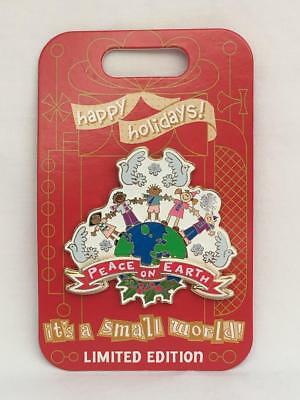 "Disney Parks Happy Holidays 2018 it's a small world ""Peace on Earth"" Pin LE 3000"