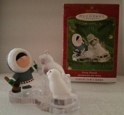 2000 Frosty Friends ornament Hallmark Eskimo seal ice carving #21 MIB