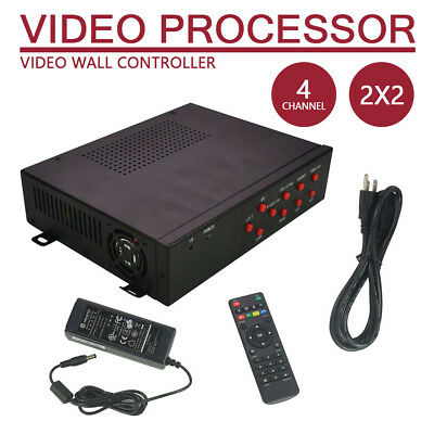 HDMI Matrix Controller Splicer Splitter Multi-format 2x2 TV Video Wall Processor