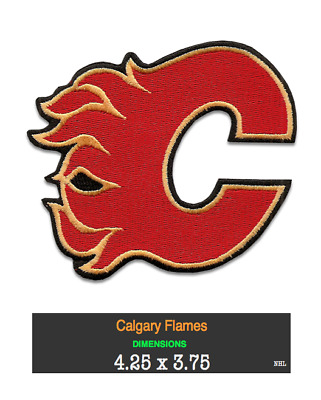 CALGARY FLAMES - Lot of 3 different embroidered patches >> Great XMAS Gift <<