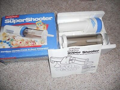 Hamilton Beach Super Shooter Cordless Cookie Press & Food Decorator