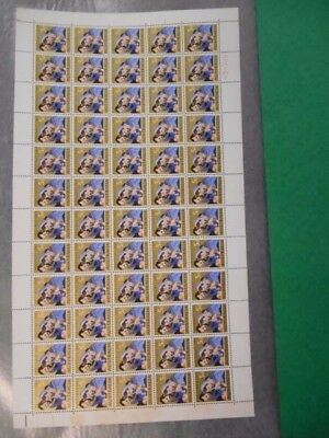 1965 CHRISTMAS 5d Full Sheet 60 MUH Stamps Very Scarce