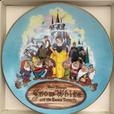 Disney Snow White & the Seven Dwarfs Vintage Christmas Plate 1987 (Collector)