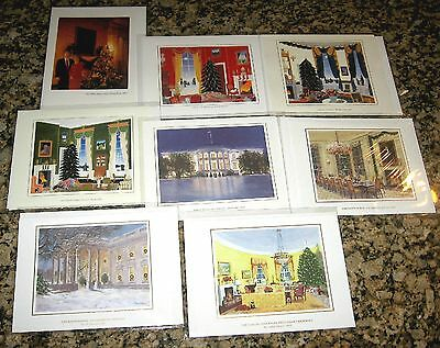 *NEW* Complete SET of (8) 1993-2000 White House OFFICIAL Christmas Card CLINTON