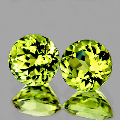 4.50 mm ROUND 2 PIECES NATURAL BRILLIANT CANARY YELLOW MALI GARNET [FLAWLESS-VVS