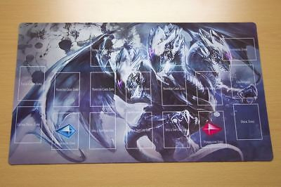 E171+ Free Mat Bag Blue Eyes Ultimate Dragon Playmat Yugioh Game Play Mat Zones