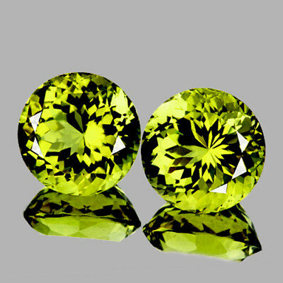 4.80 mm ROUND 2 PIECES NATURAL INTENSE CANARY YELLOW MALI GARNET [FLAWLESS-VVS]