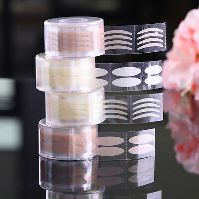 600Pcs Clear Beige Makeup Clear Double Eyelid Stripe Invisible Tape Stickers